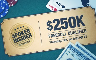 Poker Insider $250K Freeroll Qualifier - Bovada Poker