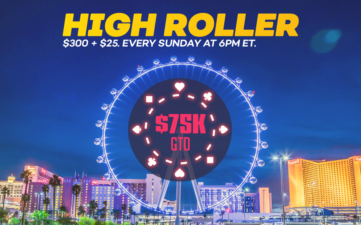 75K Guaranteed High Roller Online Poker Tournament